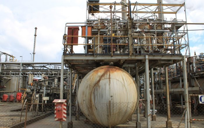 The processing plant at the Kansanshi copper mine in Zambia.
