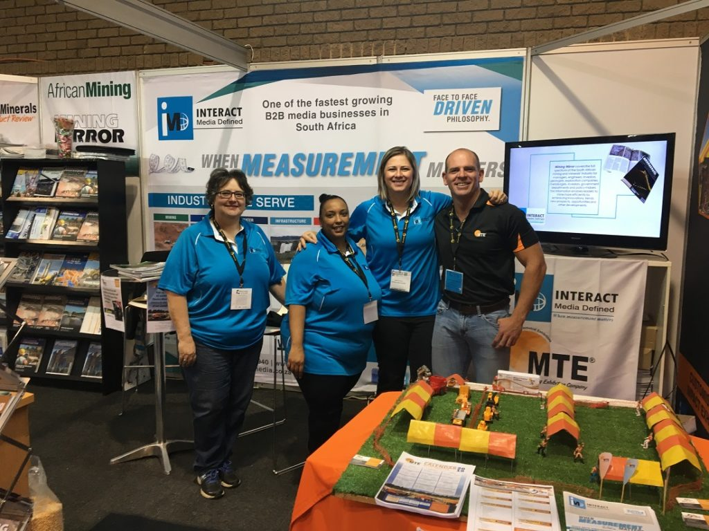 From left: Glyniss Bone, Ronelle Godfrey, Mari Macnamara and Herman Bezuidenhout of Interact Media and Mining & Technical Exhibitions.