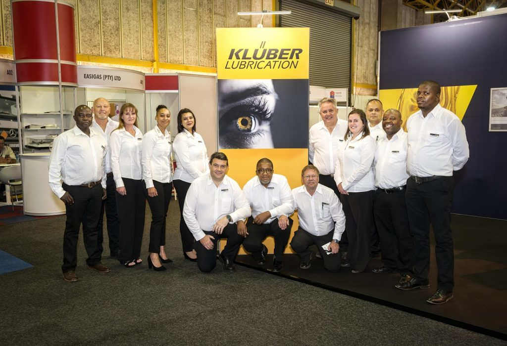 The taste of success ... The team of Kluber Lubrication South Africa proudly shows off their stand at Electra Mining 2018, displaying their personal style, ambitious attitude, outstanding performance. Image credit: Klueber