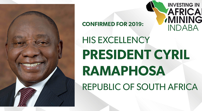 President Cyril Ramaphosa will attend the Investing in African Mining Indaba next week. Iamge credit: Twitter