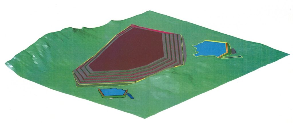 A 2006 tailings dam model. Image credit: IMD