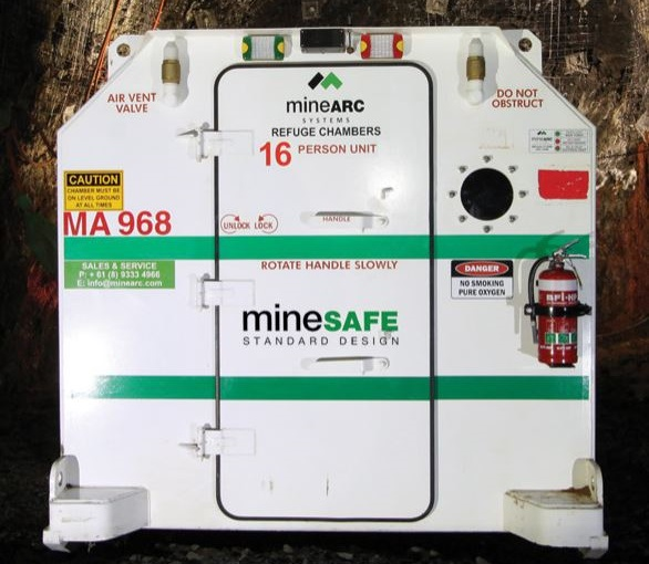 MineSAFE Refuge Chambers are designed for underground hard-rock or metalliferous mines. Image credit: MineARC