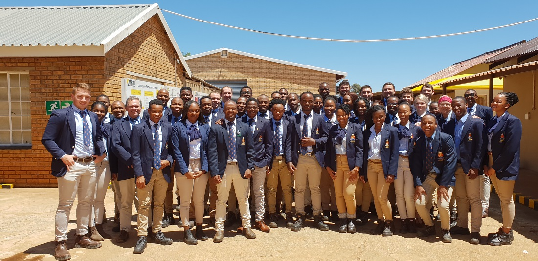 Final year mining engineering students from the University of Pretoria. Image credit: Murray & Roberts