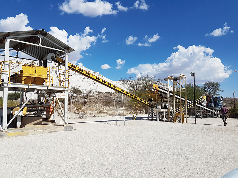 AfriTin's pilot plant at the Uis Mine in Namibia.