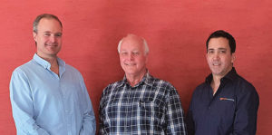 From left: Mark Wanless, partner and principal geologist at SRK Consulting (SA); Hennie Theart, corporate consultant, partner, and geologist at SRK Consulting (SA); and John Paul (JP) Hunt, senior exploration geologist at SRK Exploration Services. Image credit: SRK Consulting