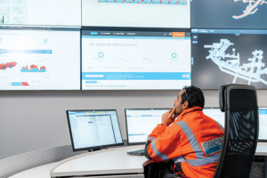 Sandvik monitoring a mining operation. Data and information management will become increasingly important in the future. Image credit: Sandvik