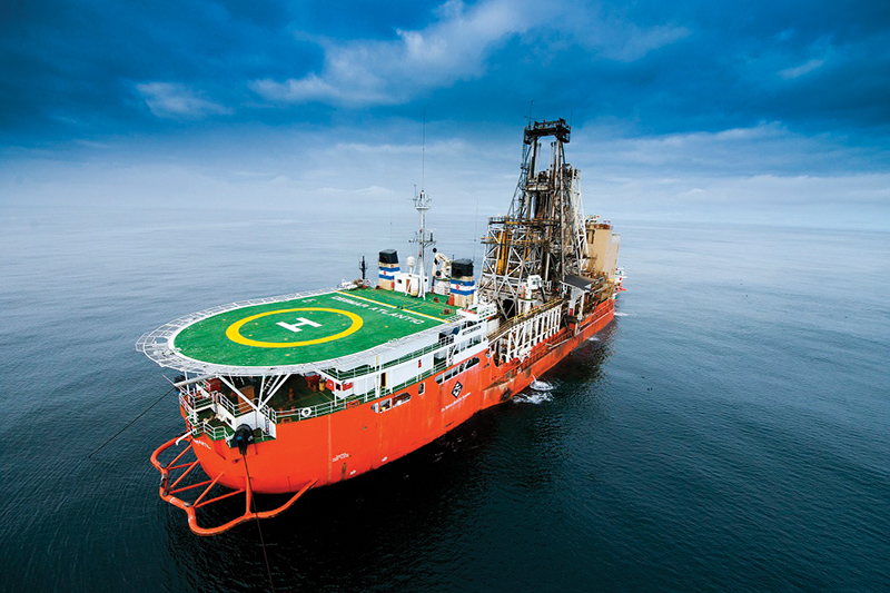 Another one of Debmarine's vessels off the coast of Namibia.