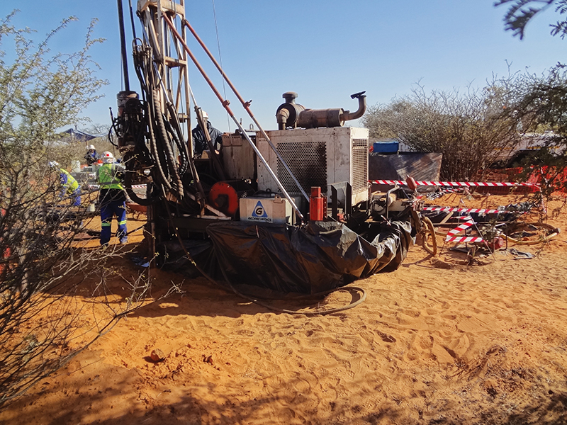 Exploration drilling in Botswana. Botswana has become a hotspot for early stage exploration, mostly because of its business-friendly environment. Image credit: IMD library