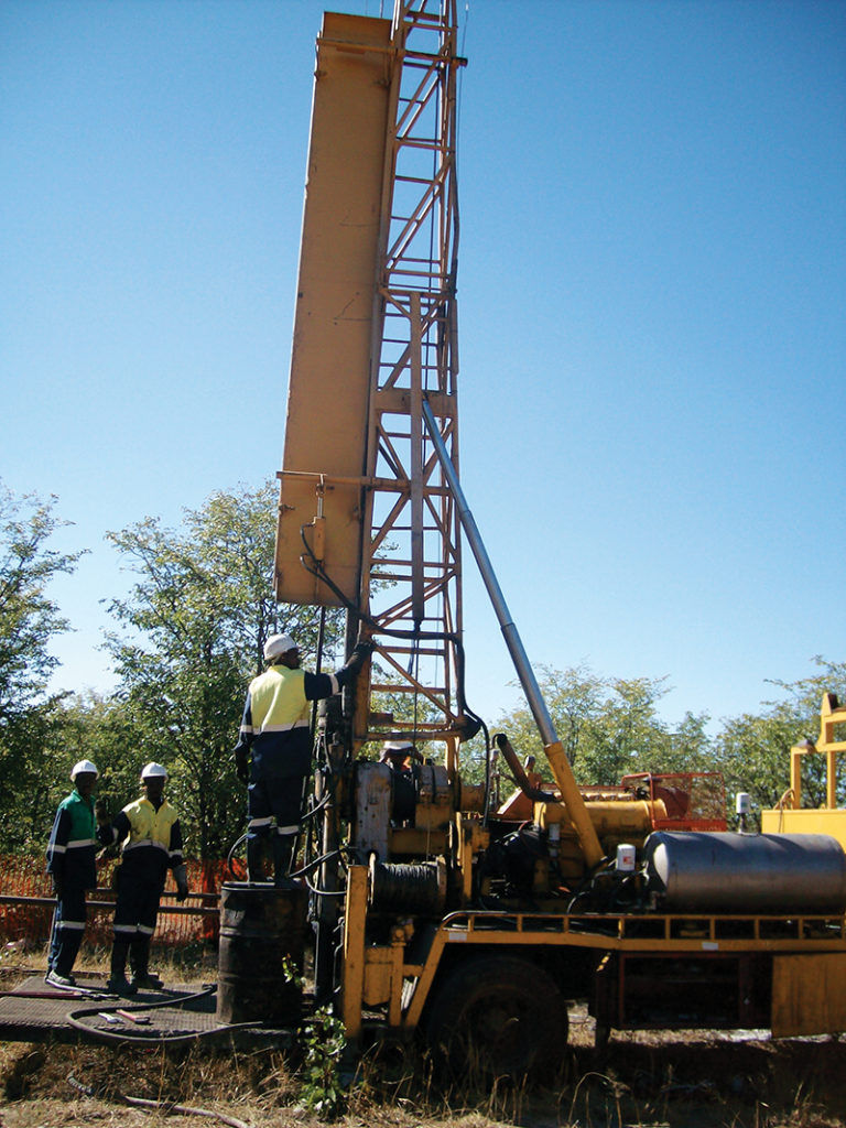 Drill rigs being unleashed in the Kalahari. Botswana presents explorers with many opportunities. Image credit: IMD library