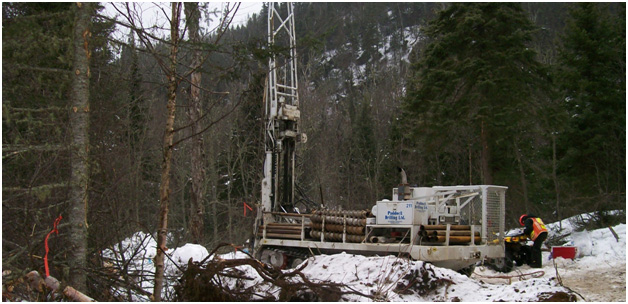 Drilling at the Marathon project in Ontario Canada. Image credit: Generation Mining